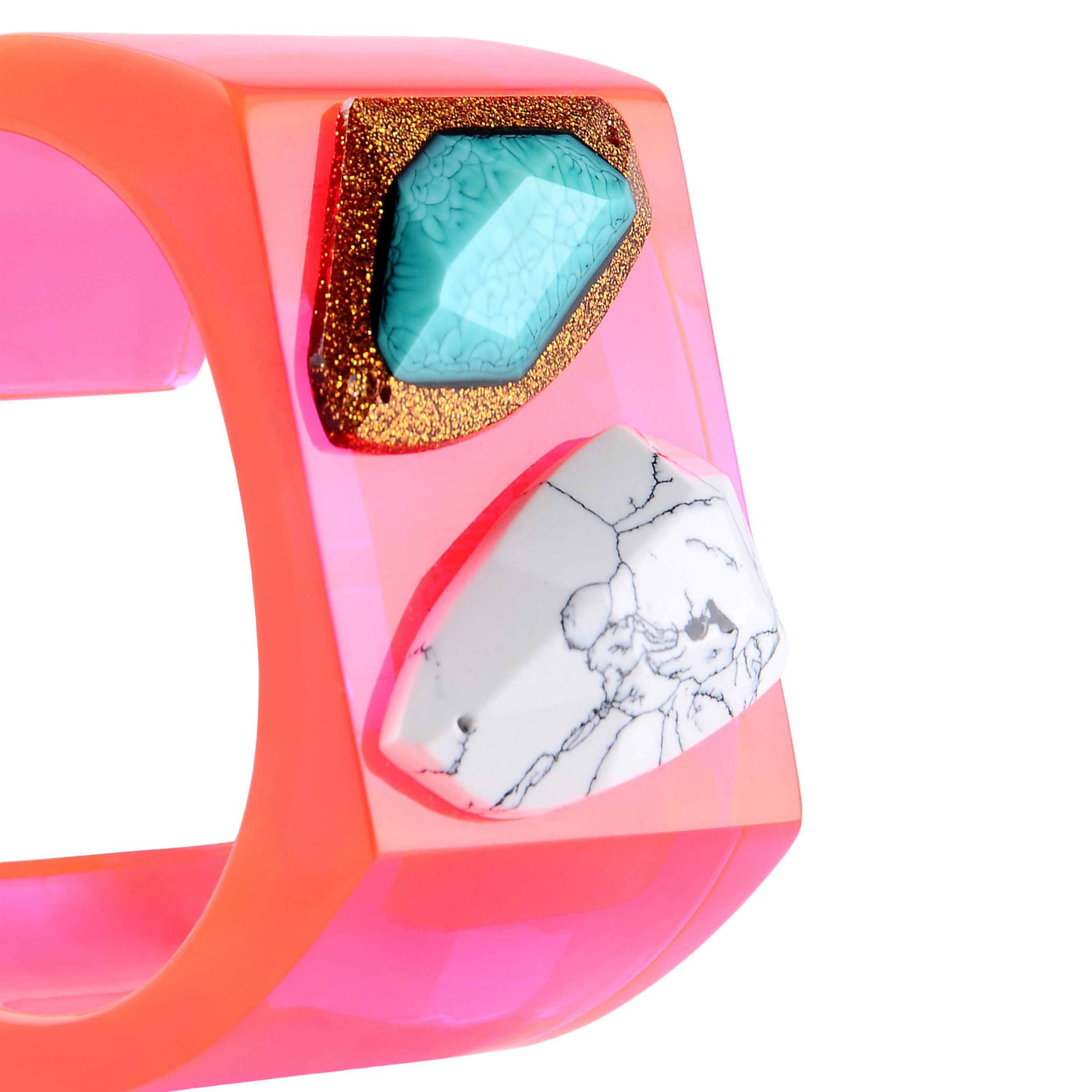 Stella McCartney - Mixed Stones Plexy Bangle - Shop at the official ...