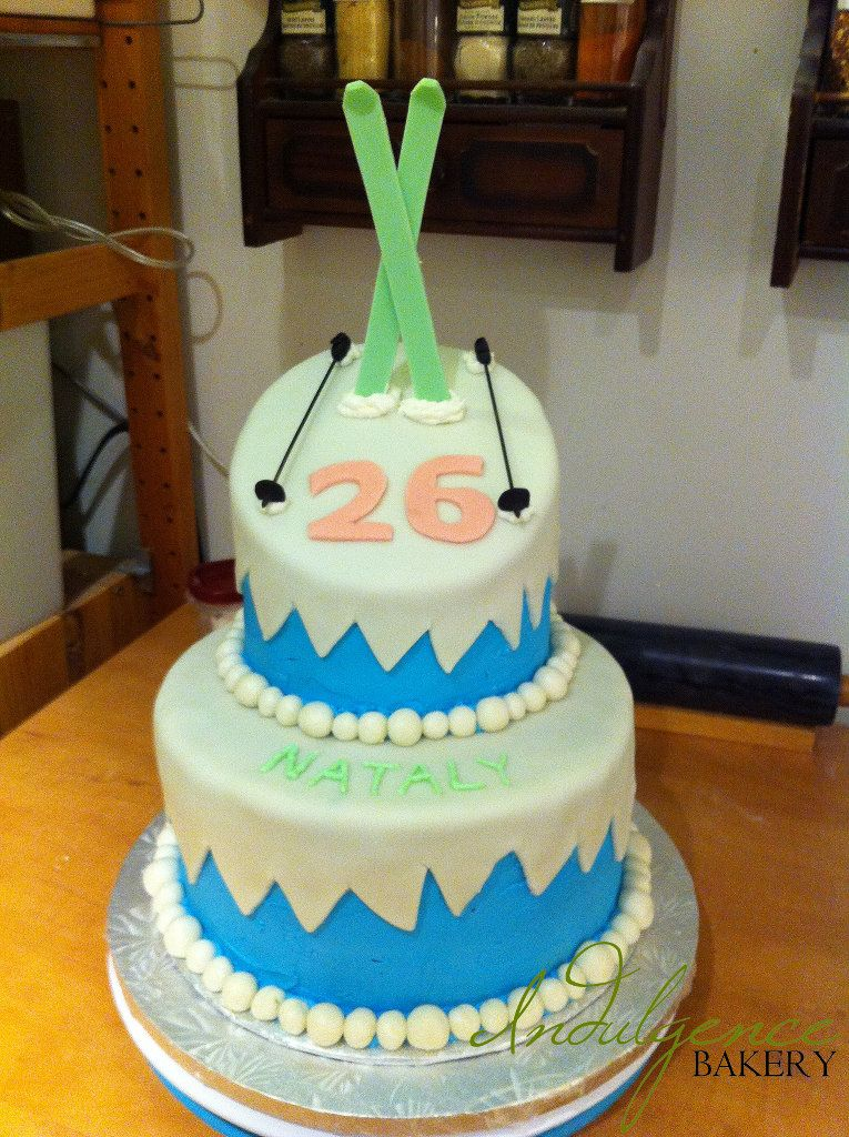 Ski Slope Birthday Cake Indulgence Bakery Ottawa Kids Birthday