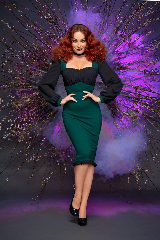 d90e5f73c Aziza Dress in Hunter Green Ponte by Elvira Mistress of the Dark in ...