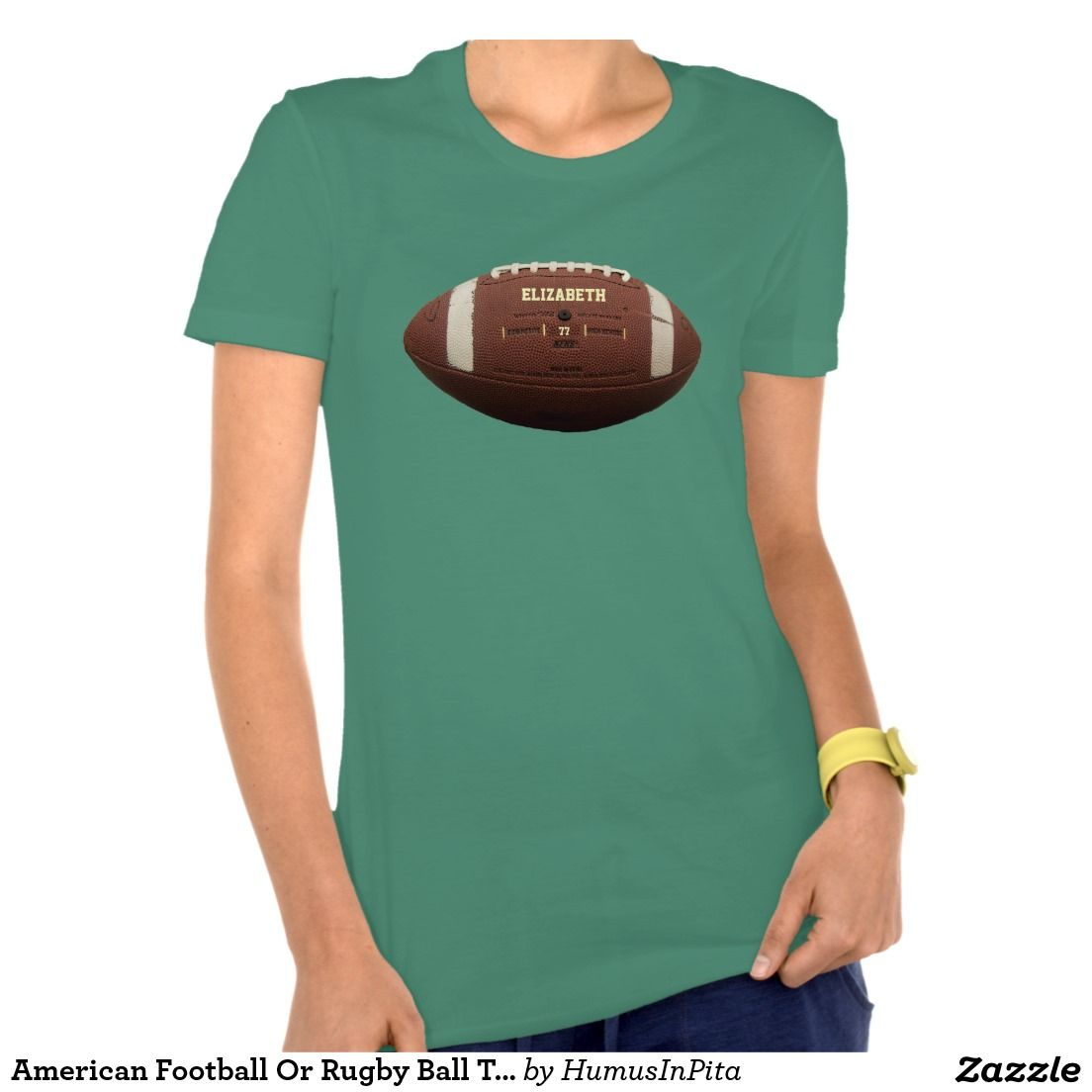 American Football Or Rugby Ball Tee