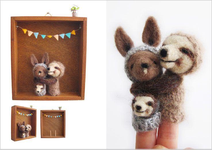 Kangaroo Sloth Family Box ..awwwwwwww