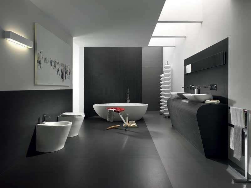 colore pareti bagno bagno moderno tinto di grigio