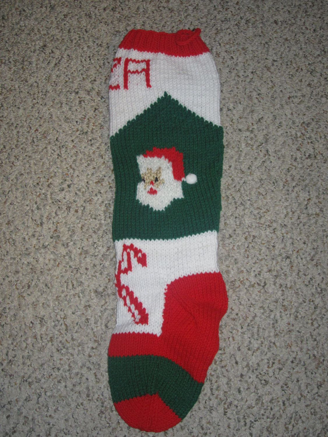Vintage personalized hand knit christmas stocking by capeknitter vintage personalized hand knit christmas stocking by capeknitter 6500 bankloansurffo Choice Image
