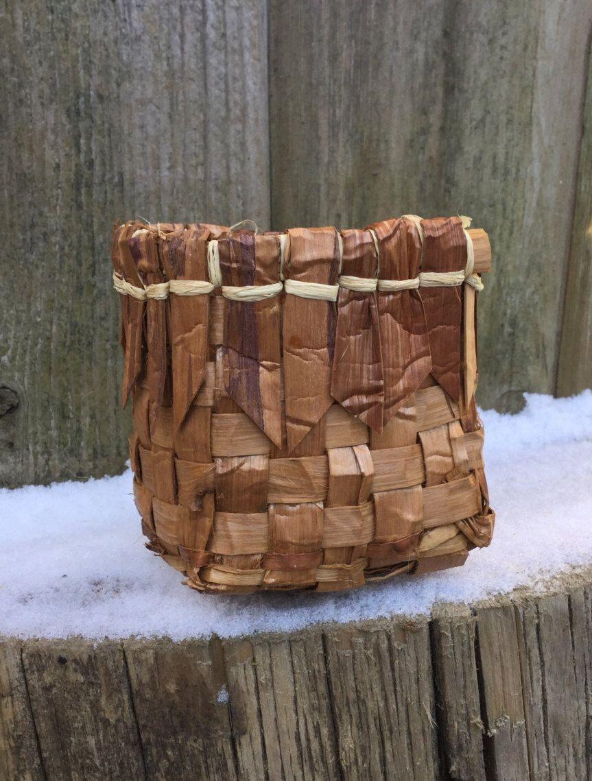 Cedar bark basket gift basket storage basket nature