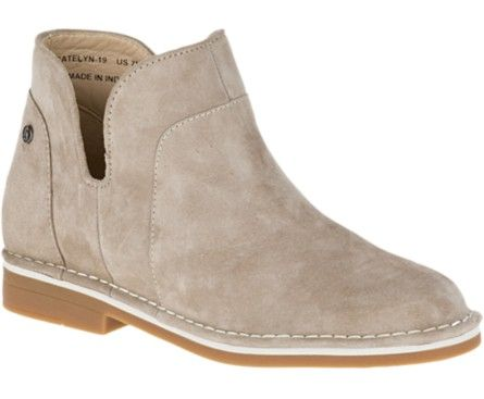 Hush Puppies Claudia Catelyn Boots Suede Ankle Boots Dress Shoes Womens