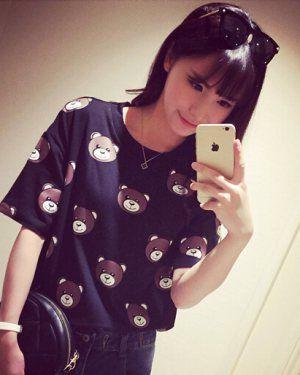 TC002114 Lovely pattern Korean style cubs short sleeve T-shirt