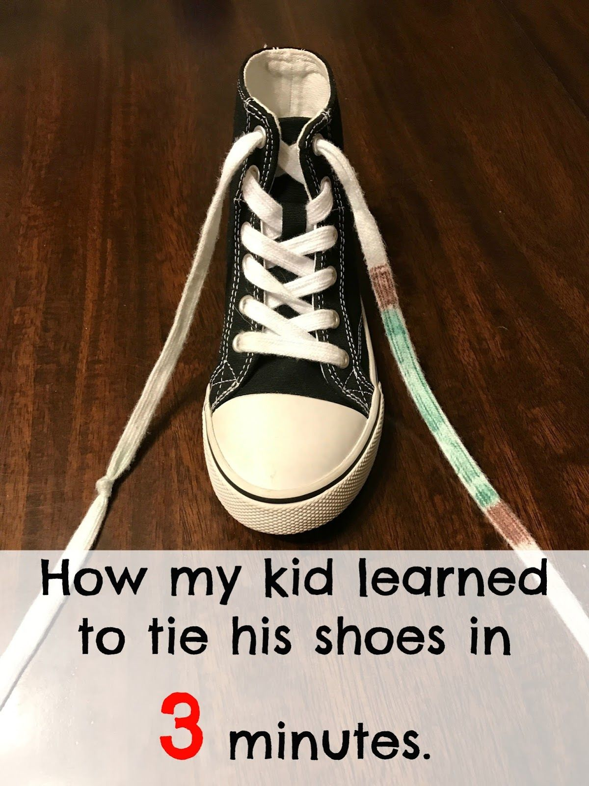 How To Teach A Child To Tie Shoes In 3 Minutes