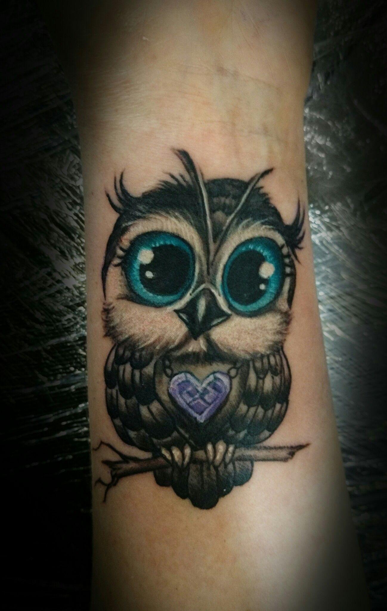 Baby Owl Tattoo Tatouage Bracelet Cheville Chouette Tatouage