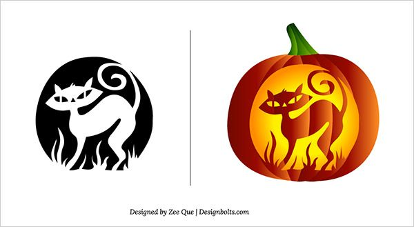 10 Free Halloween Scary Pumpkin Carving Patterns & Stencils ...