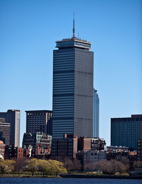 The Prudential Tower from Across The River by Matt Woitunski, via Flickr