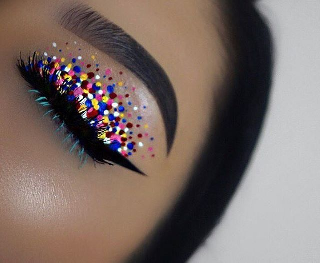 This week's MUA crush shout out goes to the talented @yalitzamonne__  Look at this festive eye look she created using our Vivid Brights liners (in 'Vivid Halo,' 'Vivid Fire,' and 'Vivid Petal'), White Liquid Liner, and Studio Liquid Liner in 'Extreme Blue.'  Check out more of her work and keep tagging your photos for a chance to be featured!  || #nyxcosmetics #nyxprofessionalmakeup