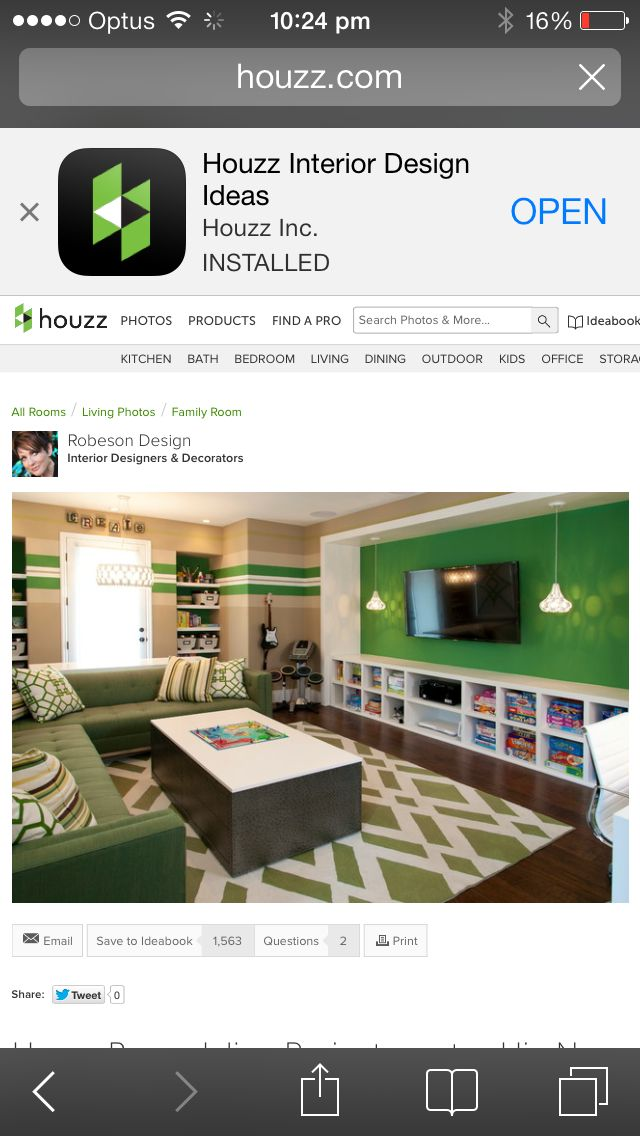 Rumpus Room Designs: Houzz Interior Design, Robeson Design, Kids Office