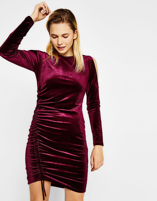 4586f2204 Vestido terciopelo ajustado con fruncido en 2019 | cumple vero ...