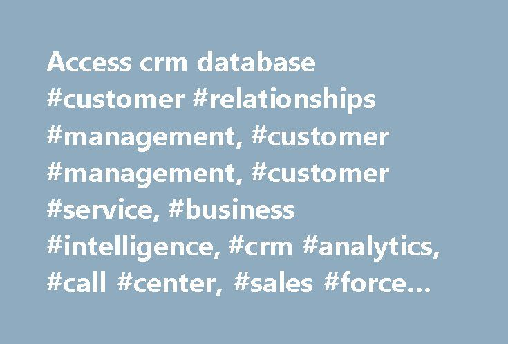 access database customer management