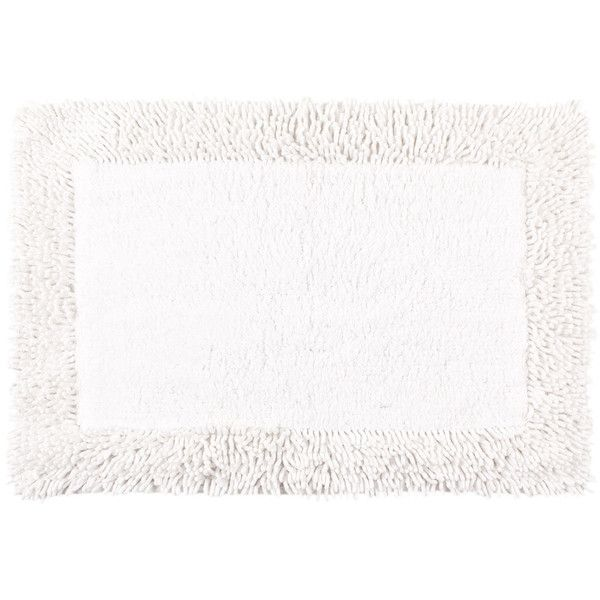 Zara Home Chenille Bath Mat (68 BRL) ❤ liked on Polyvore featuring home, bed & bath, bath, bath rugs, white, white bathroom rugs, white bath mat, chenille bath mat and zara home
