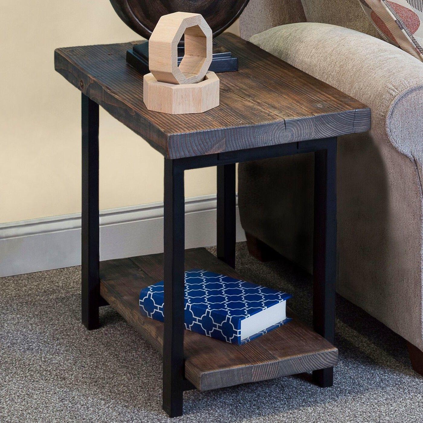 Somers Reclaimed Wood Metal End Table