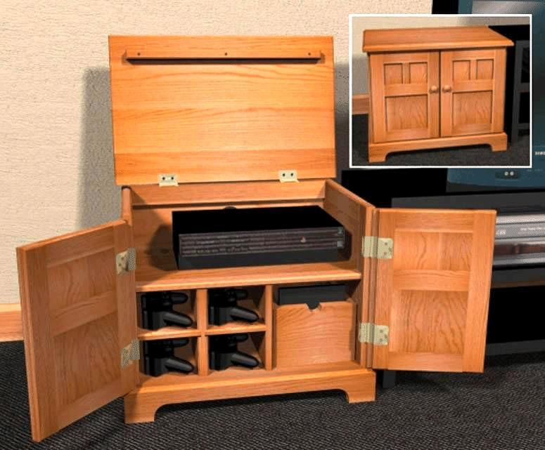 video game cabinet plans furniture plans best woodworking plans at. Black Bedroom Furniture Sets. Home Design Ideas