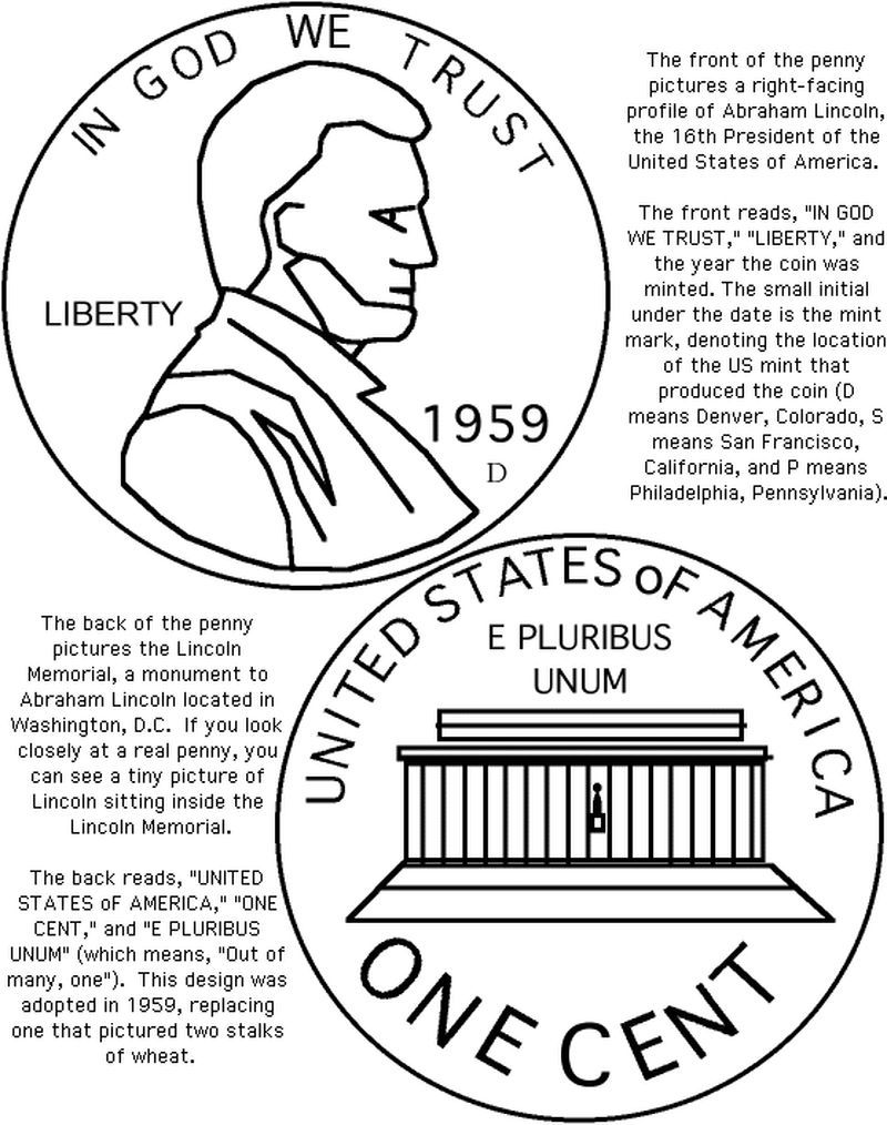 Abraham Lincoln Penny Worksheets From Abraham Lincoln Coloring
