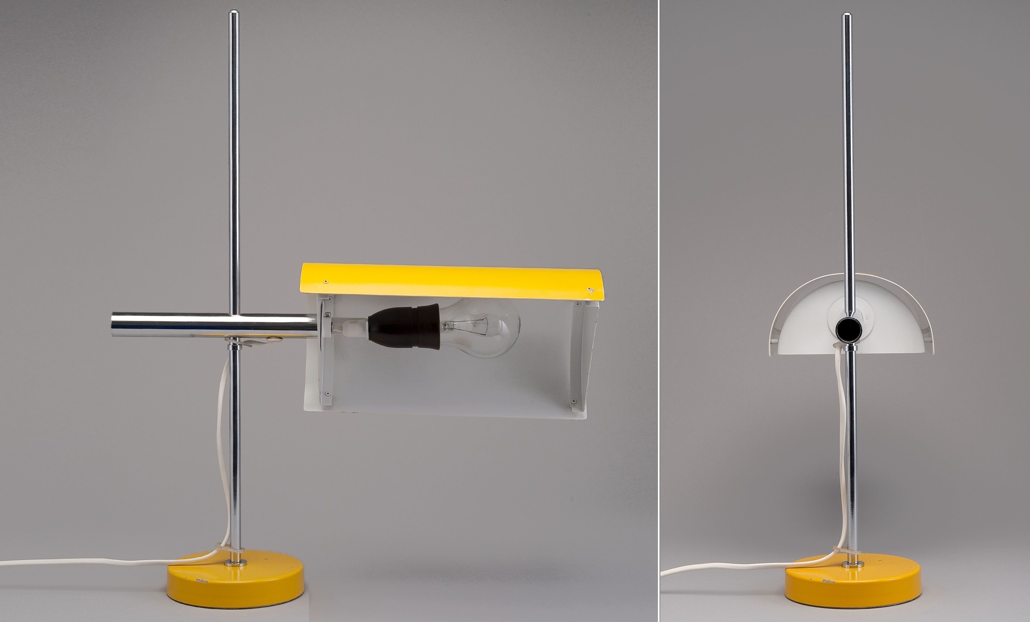 Bs 712 Designed By Ben Af Schulten C 1959 Made By Artek Reflector And Base Aluminum Stem Chrome H 52 Cm W 40 5 Cm Source Lamp Modern Furniture Design