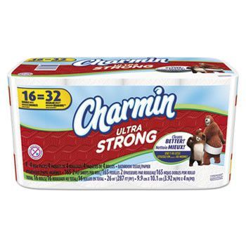 Ultra Strong Bathroom Tissue, 2-Ply, White, 165 Sheets/roll, 16 Rolls/carton