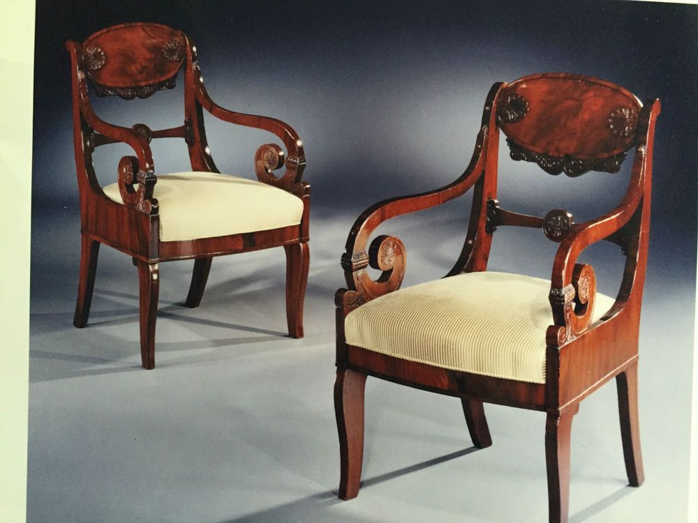 Captivating Pair Of 19th Century Russian Armchairs