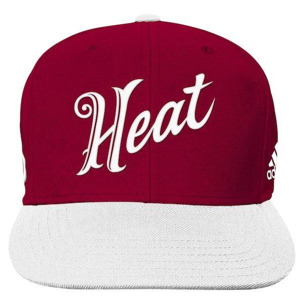 e15f8eb557e Miami Heat adidas Youth Christmas Day 2-Tone On-Court Snapback Hat -  Red White  MiamiHeat