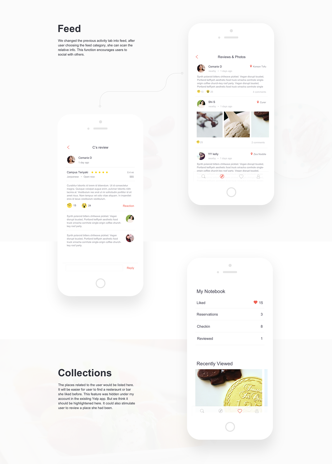 Yelp App Redesign on Behance Web design quotes, Web