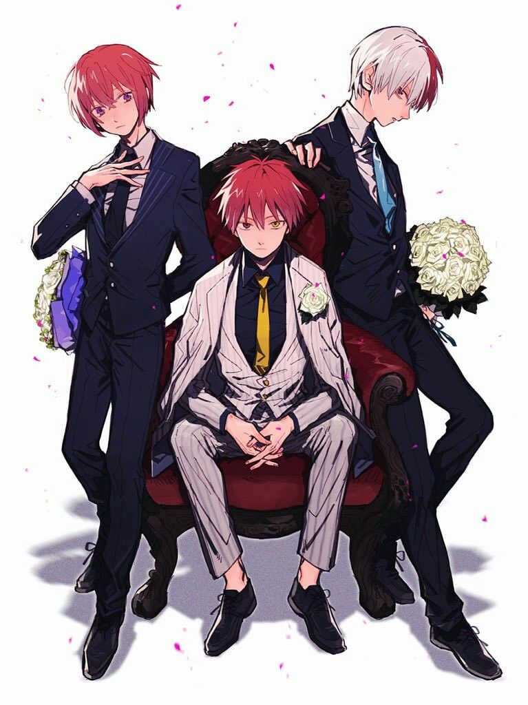 Suou Tsukasa, Akabane Karma & Todoroki Shouto Anime