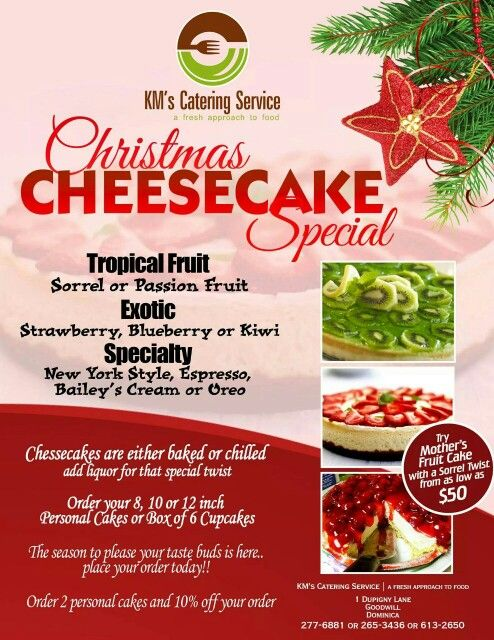 KM\u0027s Catering Service #Christmas #Cheese #Special Marketing