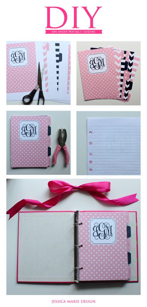 Diy Mini Binder Printable Dividers Cookbook Binder Cover Ideas