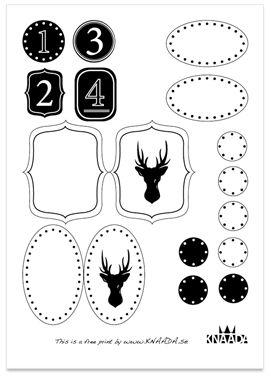Gratis julklappsetiketter design av KNAADA