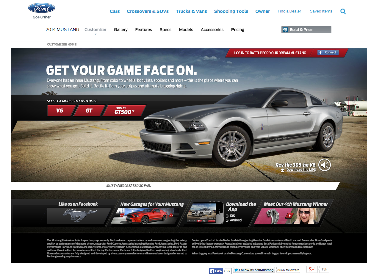 Mustang Fans Are Invited To Customize Their Mustang And Share It On Social Media The More A Person Interacts Shares Updates With Images Mustang Ford Mustang Sports Car
