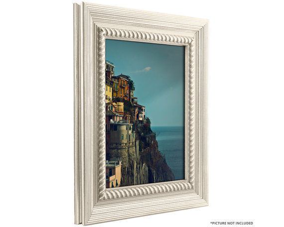 Craig Frames 24x36 Inch Rustic Off-White Picture Frame | Frames ...