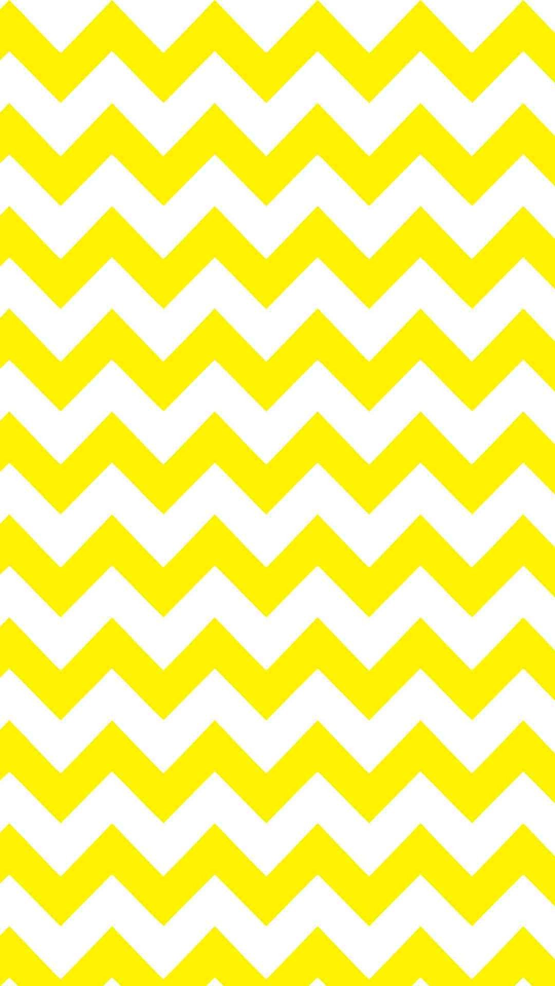 Yellow And White Chevron Iphone 6 Plus Wallpaper Zigzag Pattern