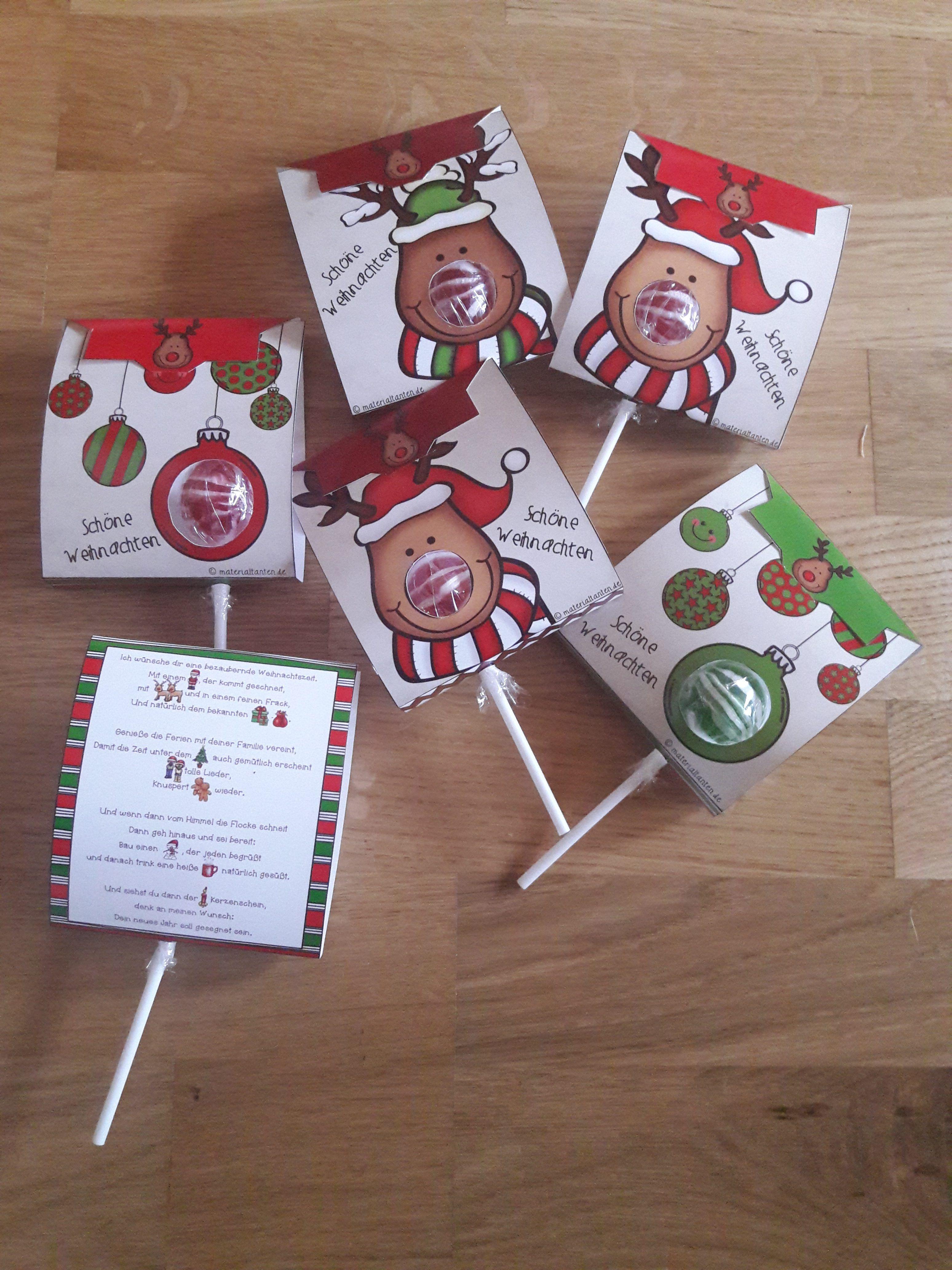 Weihnachtliches Geschenk Fur Die Schuler Geschenke Weihnachten Team Geschenke Kleine Geschenke Fur Kinder