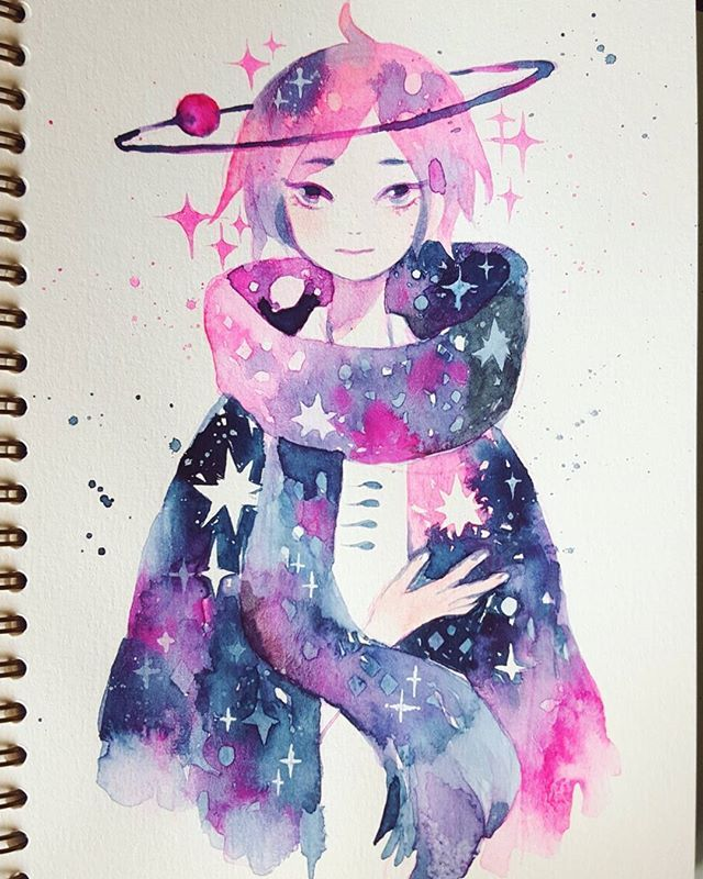 Draws This Oc Once Or Twice A Year Remains Story Less Watercolour
