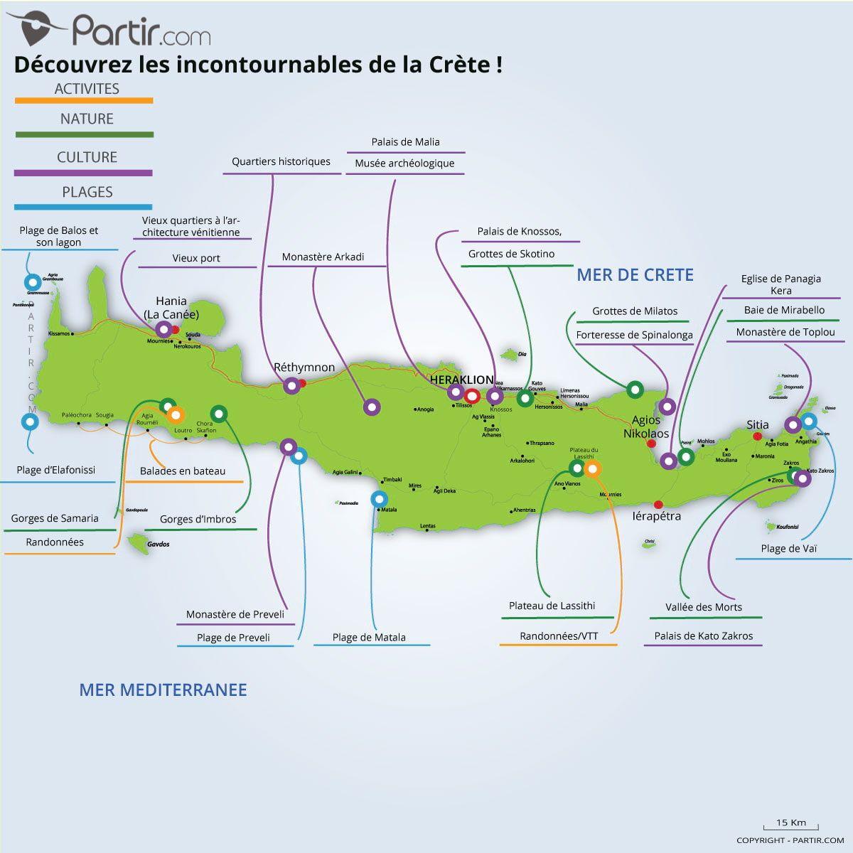 """Résultat de recherche d'images pour """"carte crete""""   Voyage en crète, Carte touristique, Voyage"""