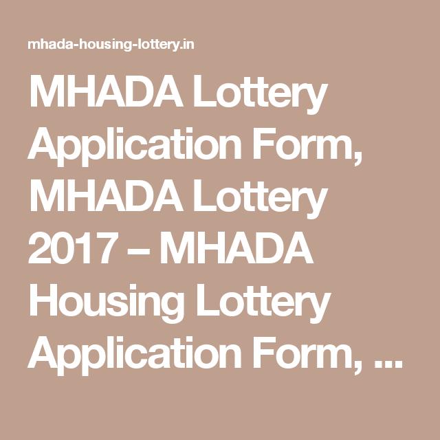 Mhada Lottery Application Form Mhada Lottery   Mhada Housing