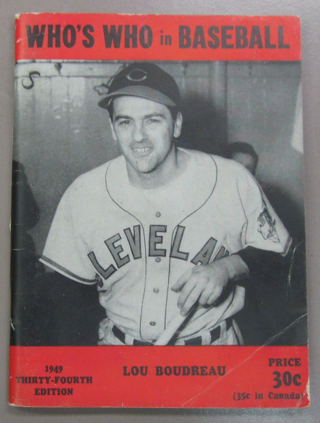 1949 Who's Who in Baseball Lou Boudreau (With images