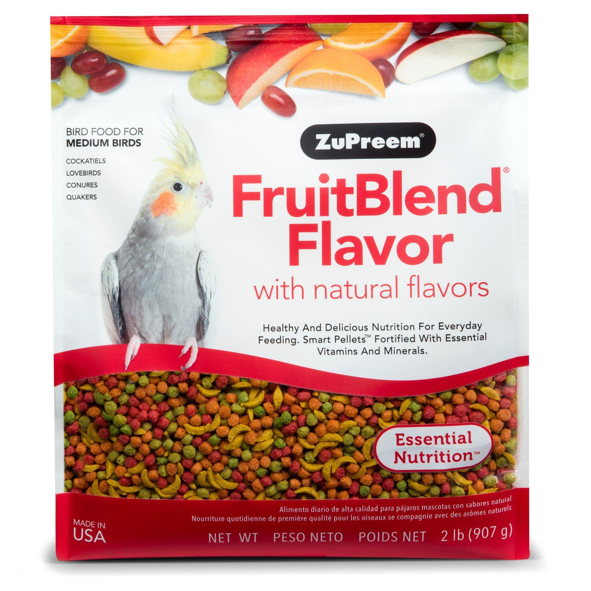 Zupreem Fruitblend Medium Bird Food Bird Food Natural Flavors Bird Supplies