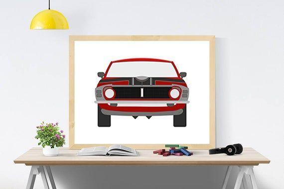 Auto digitale Ford print Auto decor Sportwagen kunst Motor digitaal Kinderkamer kinderposter ... Au
