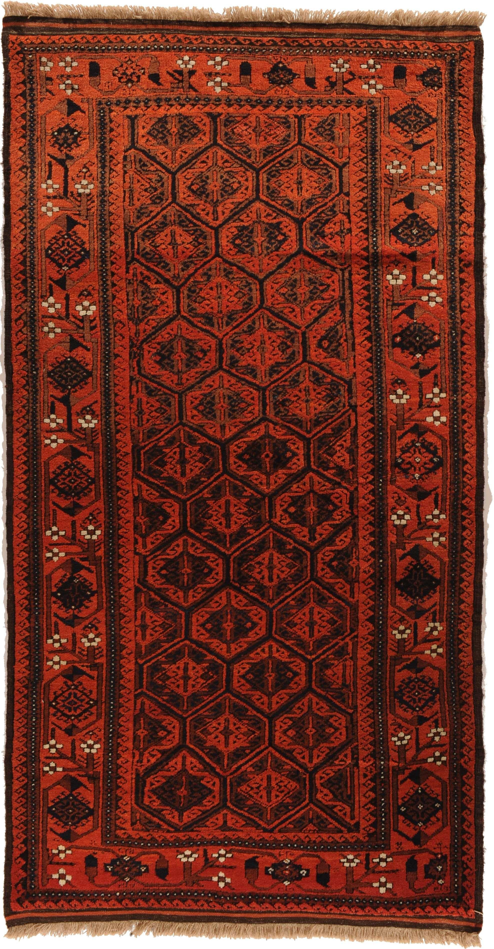 Beludj Ali Mirzai Alter Antik Herkunft Iran Lange 190 Breite 105 Teppich Antik Herkunft