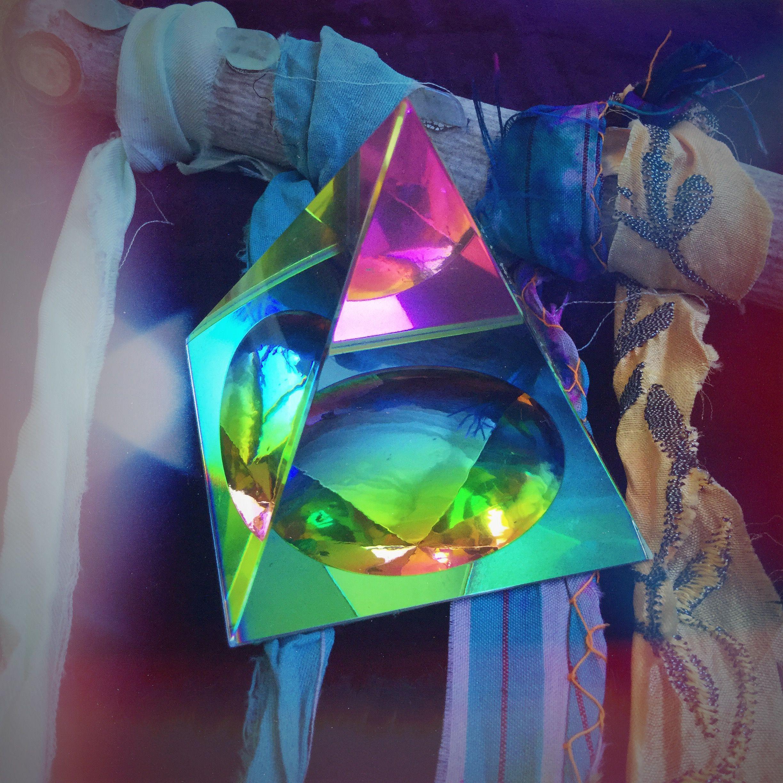 Rainbow Glass Pyramid for raising energy and positive vibrations