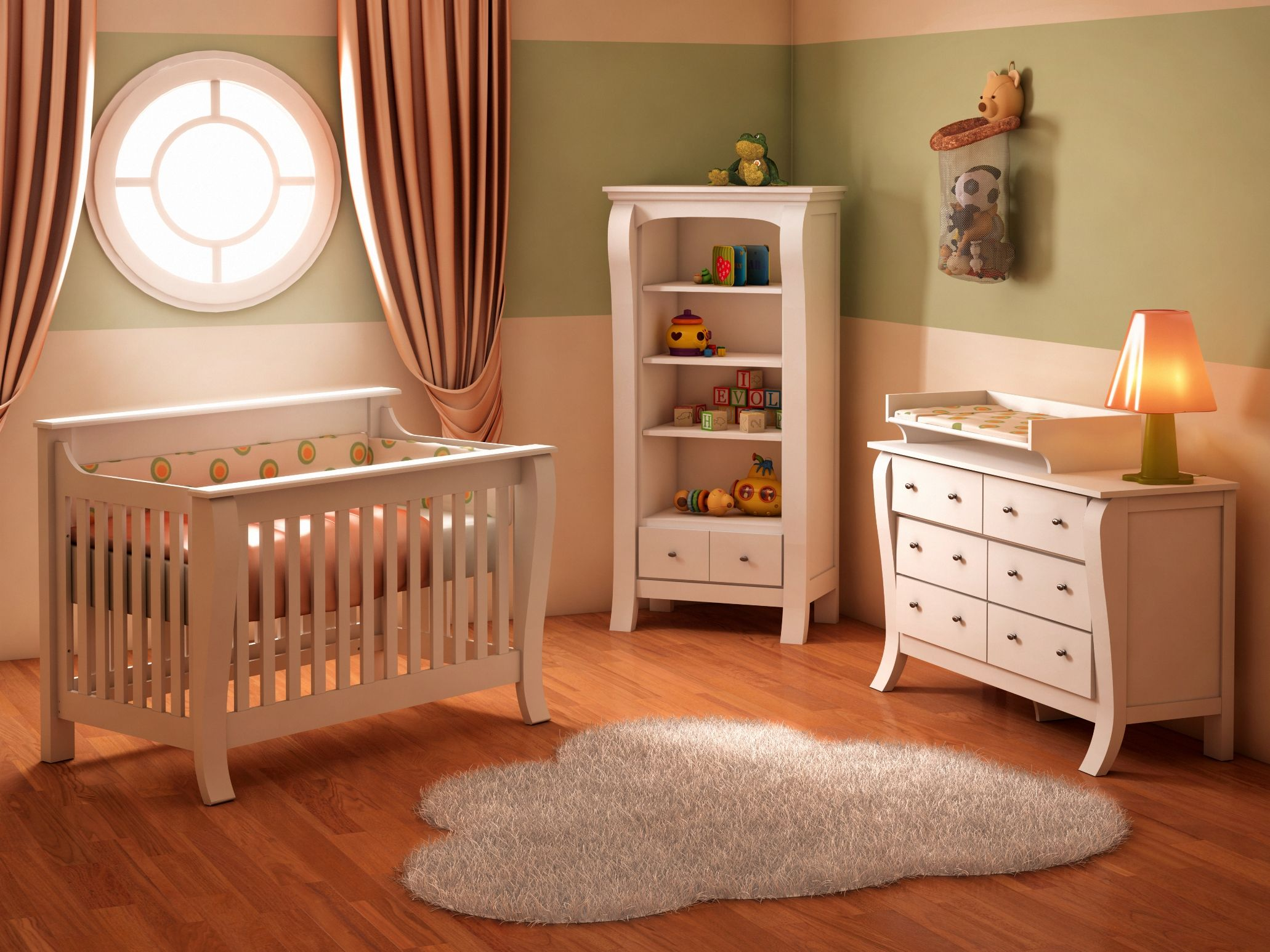 Baby cribs york region - College Woodwork Augusta Nursery Collection