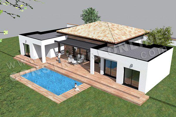 plan de maison moderne plain pied TEMPLATE (5) | plans | Pinterest ...