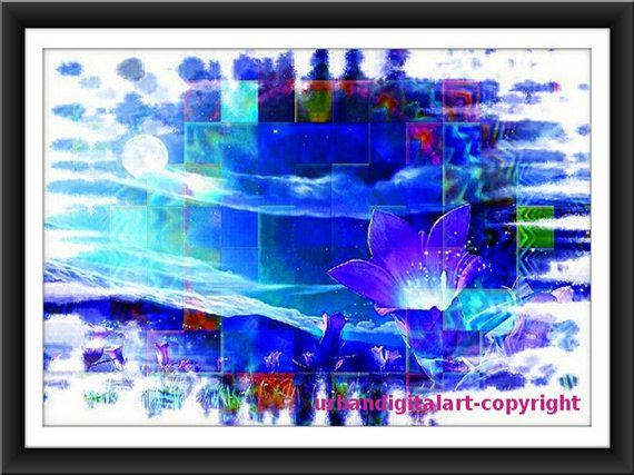 Blue SpringDownloadable 8x10 Abstract digital by UrbanDigitalArt, $5.95