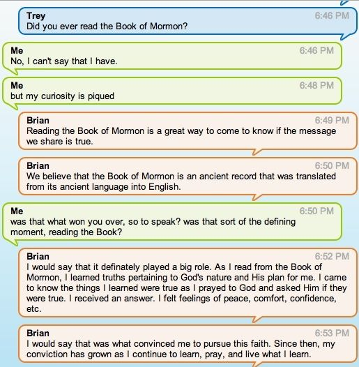 Chat with mormon