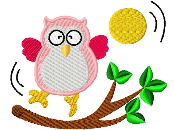 #Stickmuster Stickdatei #Embroidery Design #Owl Owls #Eule Eulen by www.Stickmuster.org. Dein Shop für Stickmuster / Stickdateien. Your Embroidery Designs Shop.