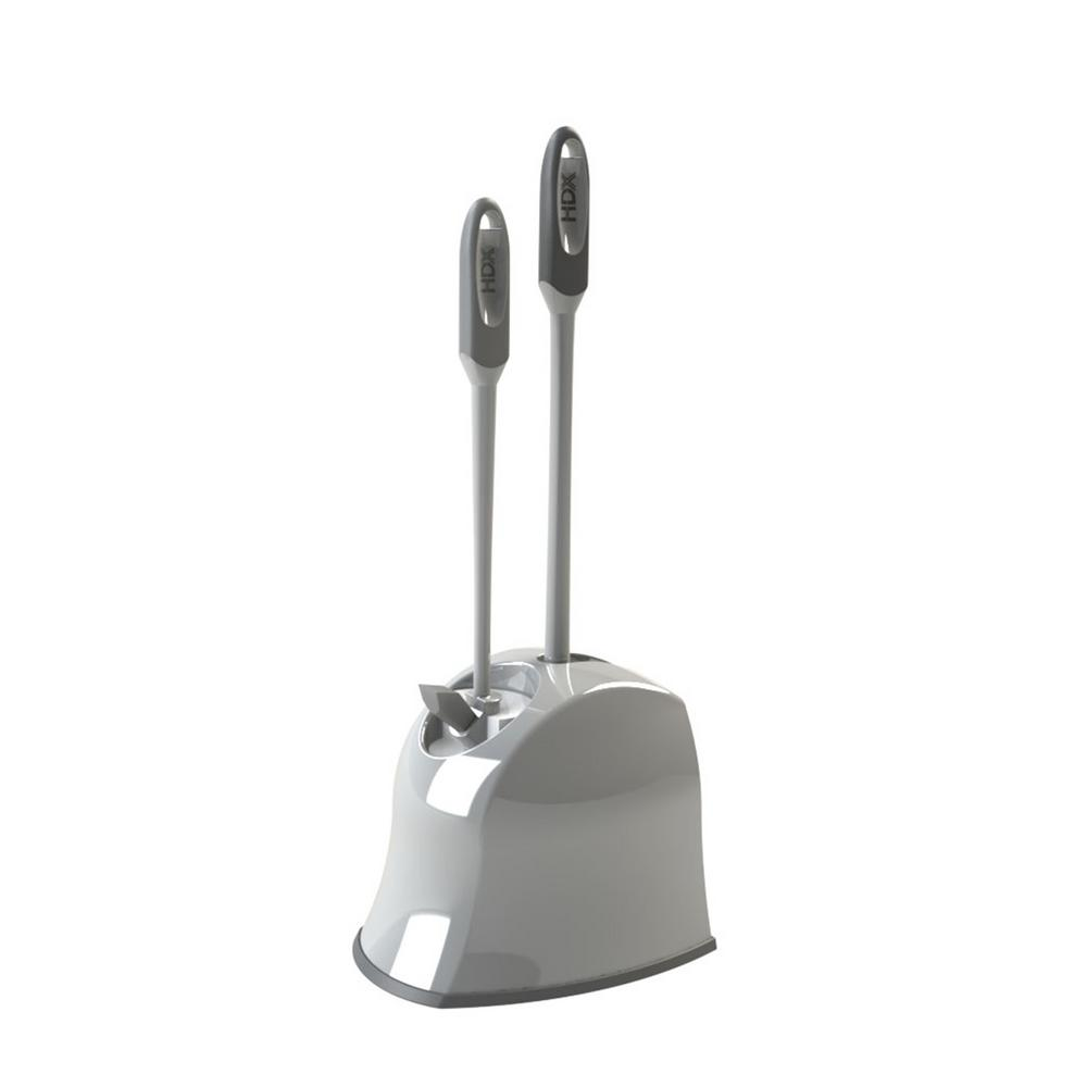 Hdx Bowl Brush Plunger And Caddy 365mbhdxrm In 2020 Toilet Bowl Toilet Brushes Holders Storage Caddy