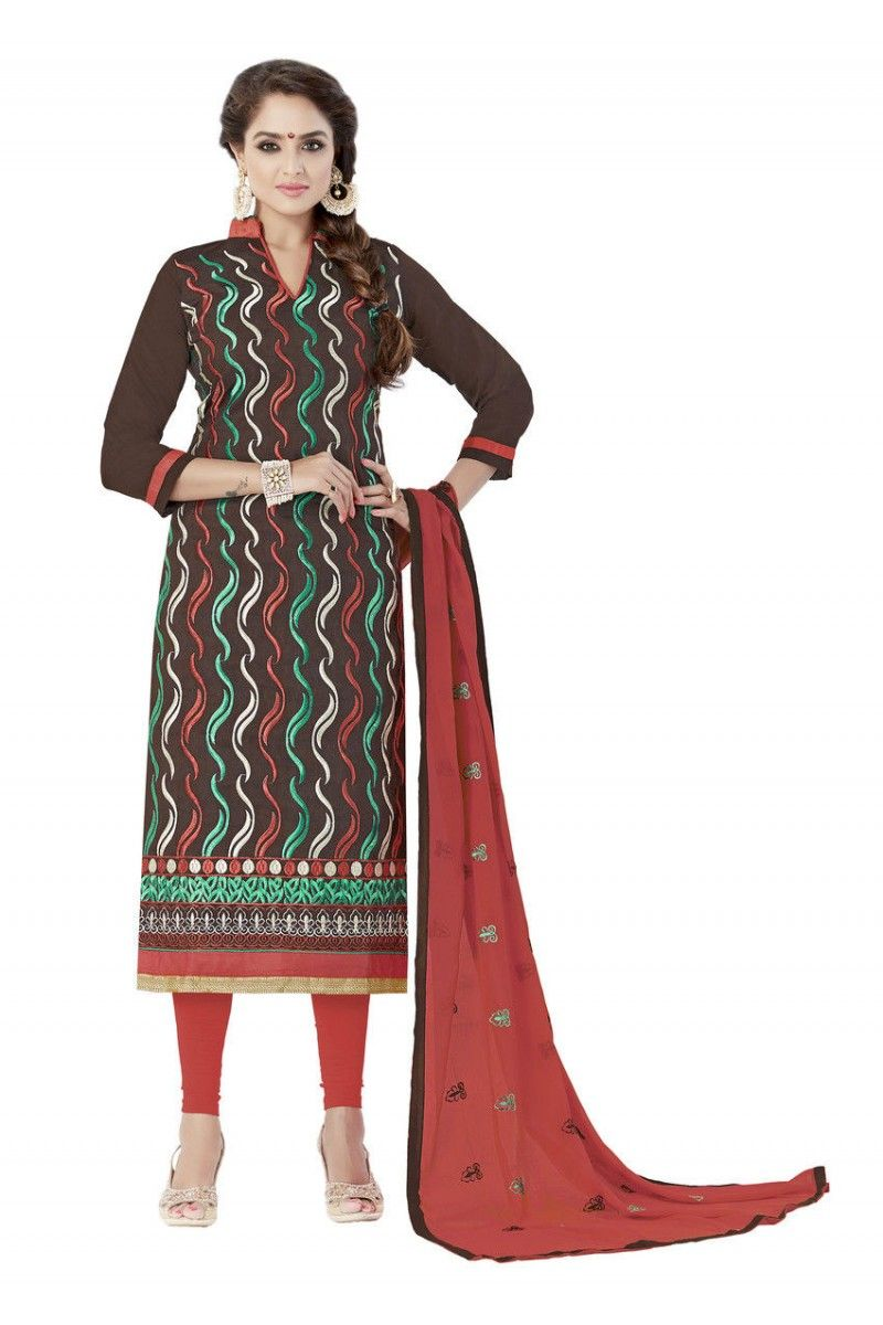 0186fa95b9 Chanderi Straight Embroidery Unstitched Suit #wholesalebox #wholesale  #fashion #salwar suits #fashionstore